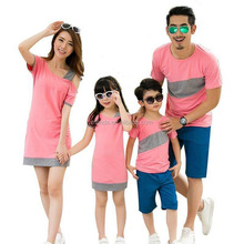Family Look Clothing Special Shoulder For Mother Daughter Dresses Family Matching Outfits T-shirt for Father Son Family Clothes