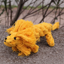 Dog Toys Handmade Knitted Pet Cotton Rope Lion 15cm Cat Toy Pet Toy
