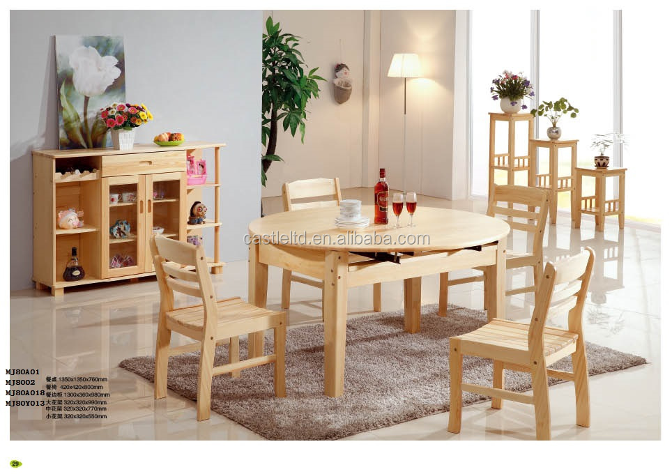 En bois h tel restaurant home table de salle manger for Salle a manger complete table ronde