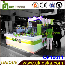 Lemon tea bubble tea kiosk &juice bar design for sale in mall with ISO9001 approved