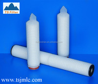 1.0 um Absolute Pleated Polypropylene Filters For Diatomaceous Earth Trap In Beer Industry