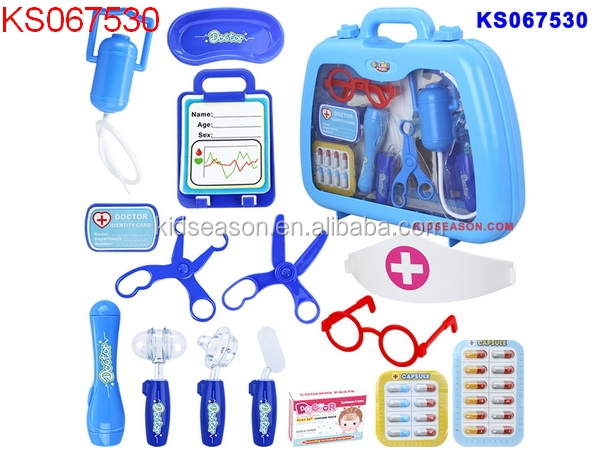 HOT SALE IN 2015 KIDS PRETEND PLAY DOCTOR MEDICAL KIT PLAY SET 15PCS