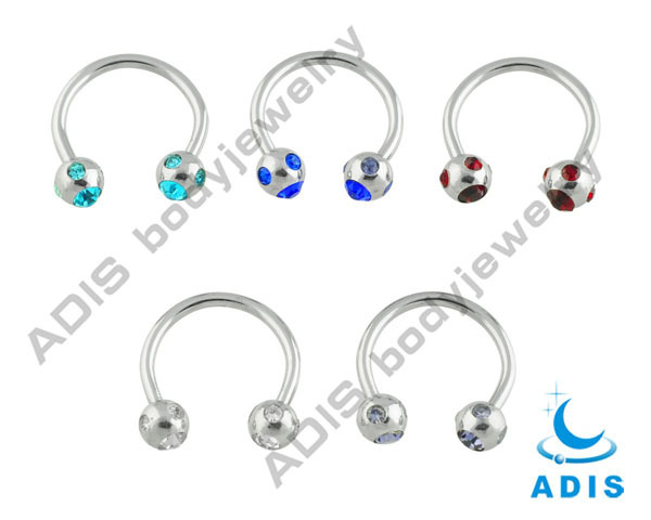 Anodized Black Stainless CBR Nose Ring Bar