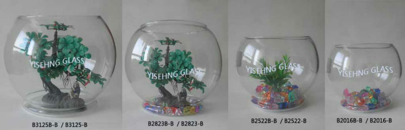 Traditional glass fish bowl / fish tank