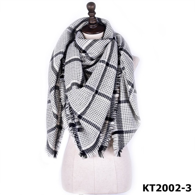2016 Hot selling fashion style plaid scarves wholesale