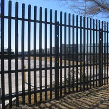 Hot-dip galvanized steel tube Iron fence steel fence gate/garden fence