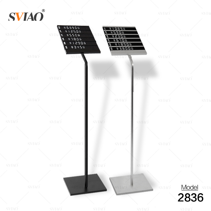 factory metal AD price display stand