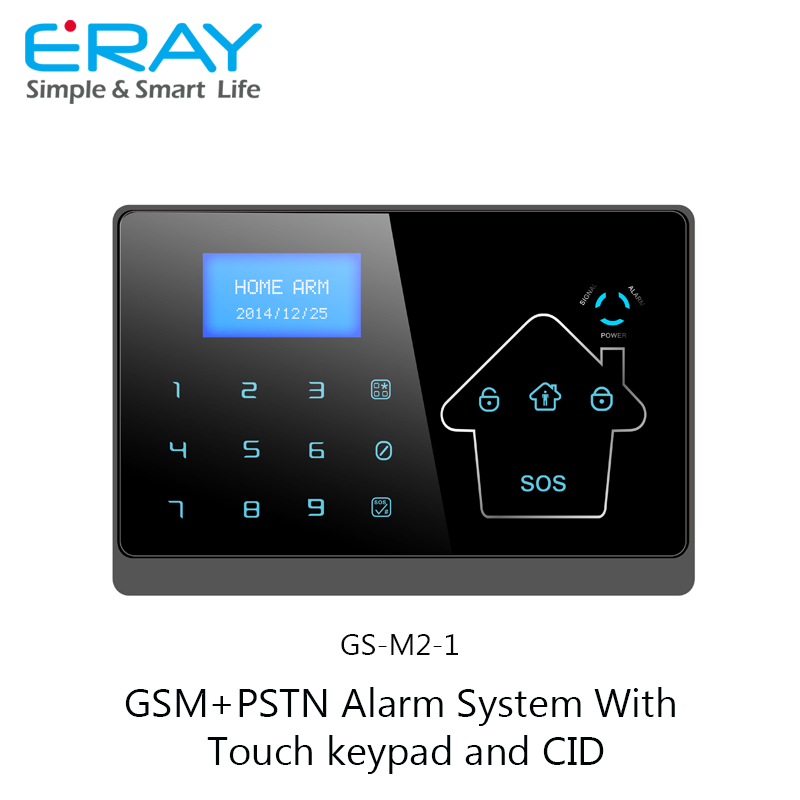 New Arrival! gsm pstn dual network home intruder alarm system with CID and touch one relay switch