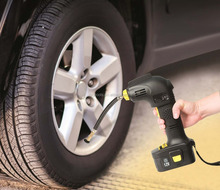 Rechargeable 12-Volt Hand-Held Air Pump Cordless Tyre Inflator