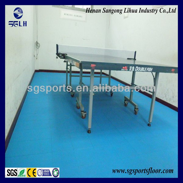 Factory direct Anti-slip/Anti-UV/Anti-agging interlocking table tennis court flooring,Pingpong flooring