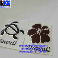 self adhesive 3D plastic PVC embossed tortoise decal sticker