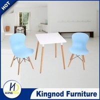 modern style square wooden dining room table and chair set