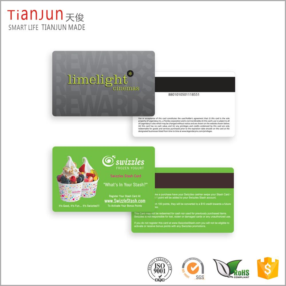 Hot Stamping Matte PVC Plastic Business Visiting Card