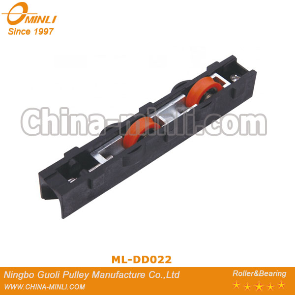 China adjustable aluminum double wheel with low friction