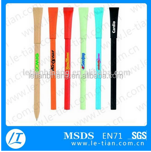 LT-Y592 2016 OEM eco- friendly recycled promotion pen with roll out paper