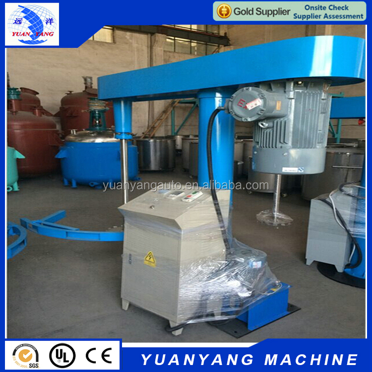 High quality cheap 37 KW hydraulic lifting high speed paint mixing disperser machine
