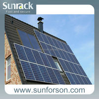 Durable pitched roof tiles and flat roof solar panels mount , 10 years warranty