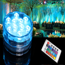 Festival bright led tea lights Remote Controlled Color Changing LED Waterproof Submersible RGB Lights