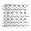 century stainless steel oval mosaic tile for backsplash decoration