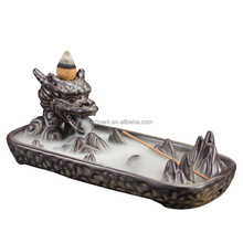 Ceramic Dragon Incense Censer Home Decor Creative Smoke Backflow Incense Burner Incense Stick Holder