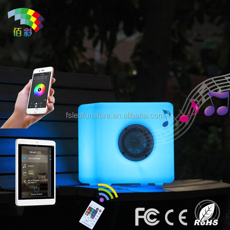 New Product 2017 LED Portable Speaker/Audio Player with remote controller