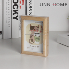 2017 new design cheap colorful 4x6 picture frame tabletop wood photo frame for decoration