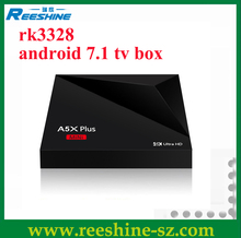 New arrival android tv box dual tuner rk3328 kodi media player 1g 8g android 7.1 tv box a5x plus