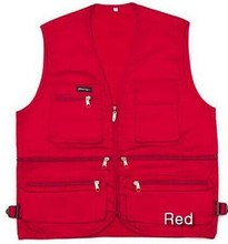 Red Orange Gray Black Fishing Vest