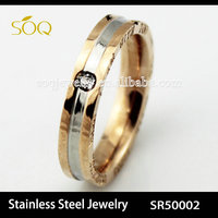 SR50002 Alibaba Rose Gold Plated Stainless Steel love letter Ring