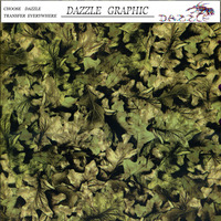 Hot Sale Dazzle Camouflage natural vegetation No.DGM-6606 Water Transfer Printing Film Hydrographic Film