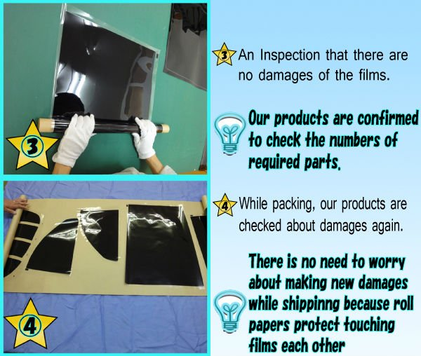 Pre-Cut Car Tint Film For Window, UV Cut, Privacy and Security Made in Japan