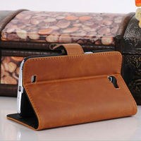 Good quality protective stand flip leather case for Samsung Galaxy Note 2 case