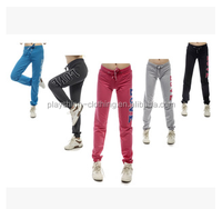 Fashion Colorful 100% Cotton Jogging Yoga Pants For Women Cotton Yoga& Dance Pants Women