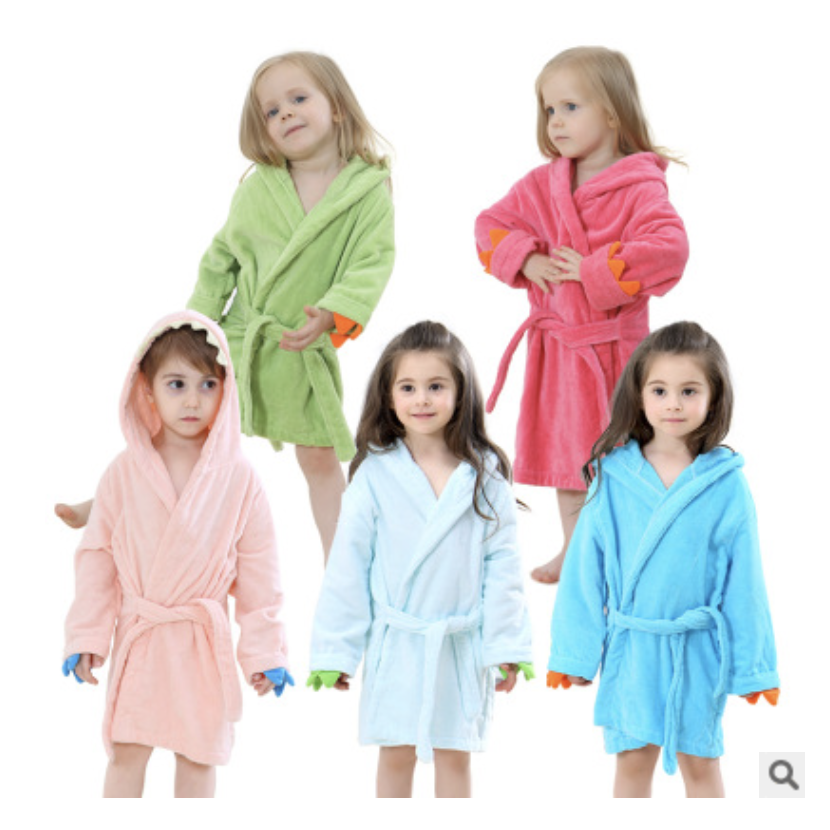 Factory direct sale foreign <strong>trade</strong> children's bathrobe cartoon model with hooded coral baby cloak baby cloaks