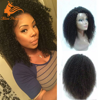 New Updated Hair Product 100% Virgin Remy Hair Full Lace Wig Kinky Curly Afro Wig For Women