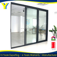 AS2047 Australian standard automatic roller sliding doors closet low price sliding folding doors plastic
