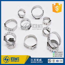 single ear compression hose clamps / pipe clips