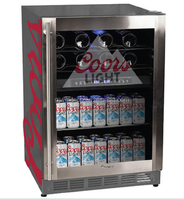 70L beer bottle display fridge /stainless steel fridge with two temperature one for beer one for wine.