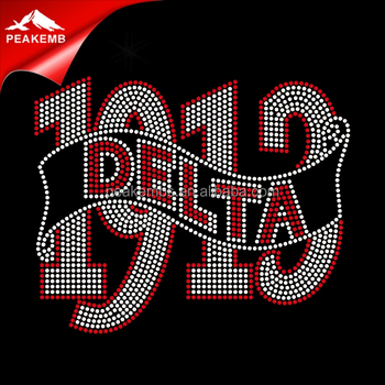 Delta sigma theta Heat Custom Rhinestone Transfer Design For T Shirt