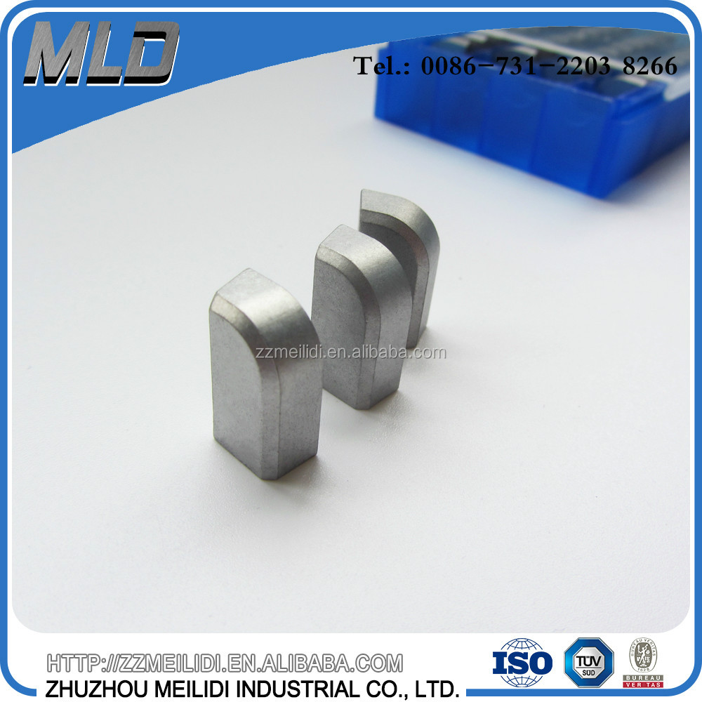 P20 P30 brazed tungsten carbide insert for processing of steel