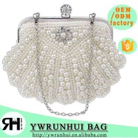 NEW Fashion women Pearl Beaded Evening bag luxury Women Elegant Clutch Gorgeous Bridal Wedding Party Bag