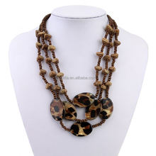 Glitta Factory price long chain beaded necklace designs wooden beads necklace GL15219