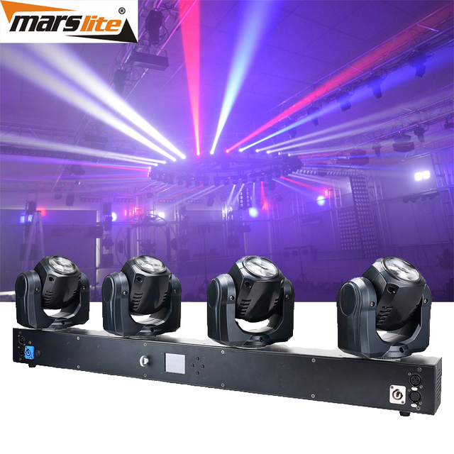 2017 New Colorful 4pcs 32W RGBW 4in1 4 Head LED Beam Sharpy Moving Head Light Bar For Dance Hall Lighting