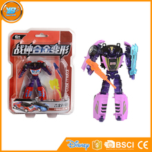 Yibao custom diecast mini smart battle robot deformation car toy for kids