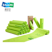 eco friendly biodegradable plastic compostable garbage bags on roll