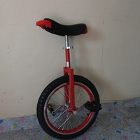 Motorcycle 18 inch monocycle with one wheel Single wheel bicycle Red color Double Alloy rim CE/ASTM F963-11