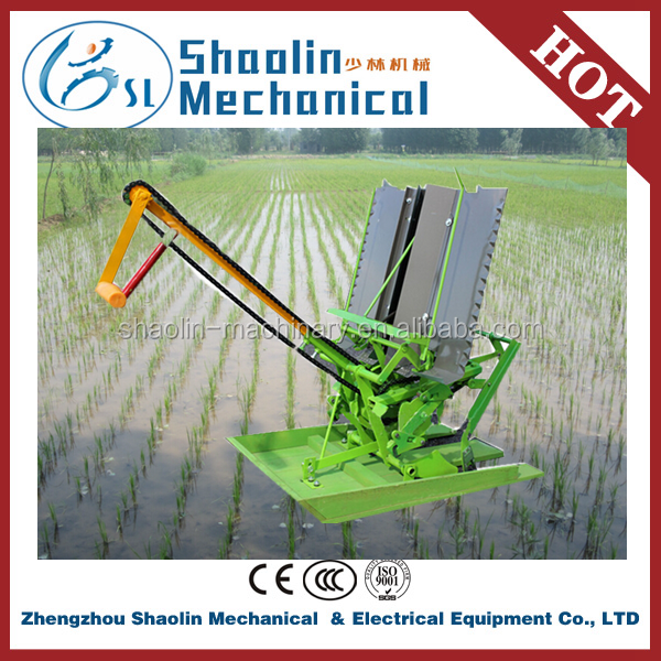 Good performance 4 row manual rice transplanter