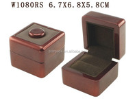 W1080RS Newly Lacquer Finish Wooden Jewelry Ring Box Ring Display Case