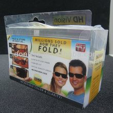 New Style Colorful Clear PET Packaging Box For Sunglass