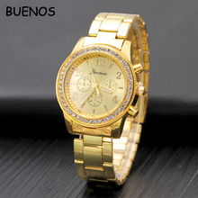 Geneva Classic Luxury Diamond Men Watch Customized Private Label Logo Quartz Movt Wristwatches